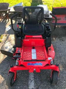 "New Simplicity Courier 42"" Zero Turn Mower"