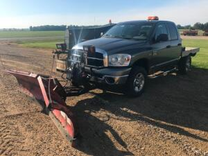 2007 Dodge Ram Pickup with Boss V Snowplow and Controller