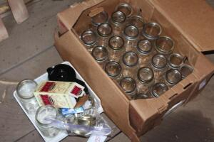 Canning jars, and coffee pot glass