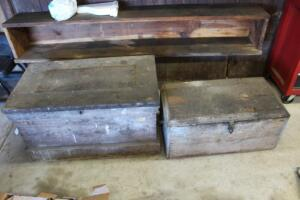 2 Wooden carpenter boxes