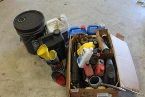 Misc. lubricants, grease guns and more