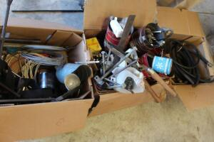 Assorted fasteners, tools, hoses, wires, and more