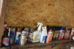 Assorted lubricants, and paints