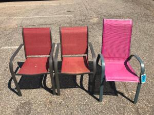 (3) Patio Chairs