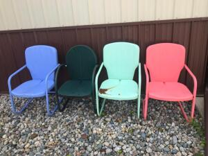 (4) Metal Patio Chairs