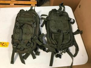 (2) Backpacks