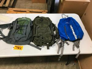 (3) Backpacks