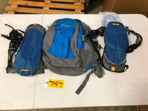 (2) Hydrating Backpacks and (1) Backpack
