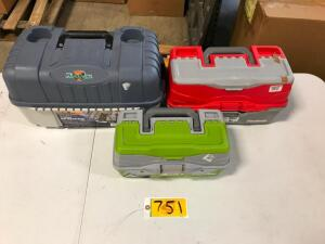 (3) Tackle Boxes