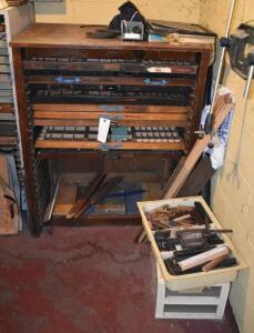 Letterpress Printing Type and Cabinet