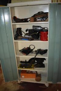 Power Tools, Metal Cabinet and More