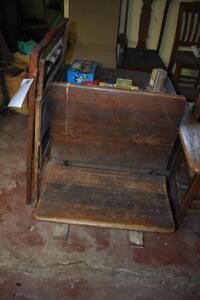 Vintage Desk (Still has ink well) and Educational Board