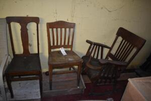 Wood Rocking Chair with 2 Chairs