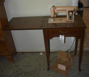 Vintage Atlas Sewing Machine with Table