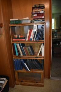 Barrister Bookcase with Books