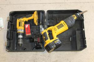 "DeWalt Reciprocating Saw and 1/2"" Cordless Drill"