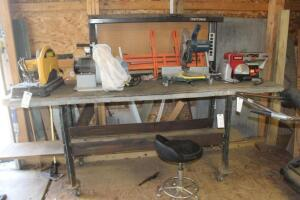 Work Bench and Stool- NO Contents