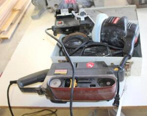 "Craftsman 3"" Belt Sander, Craftsman 6"" Buffer, Orbit Sander and Disc Sander"