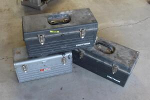 (3) Craftsman Tool Boxes with Contents
