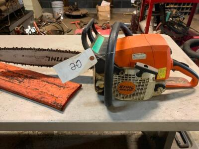 "Stihl MS310 chainsaw with 20"" bar"
