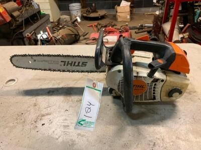 "Stihl MS201TC chainsaw with 14"" bar"