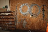 Tree cabling equipment and parts on the wall