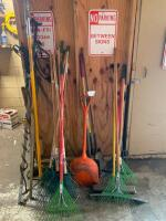 Assorted lawn and garden tools