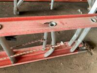 2 Fiberglass extension ladders damaged - 3