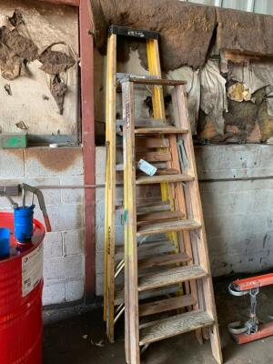 Assorted step ladders some damaged