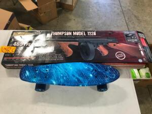 Thompson Model 1928 and Skateboard