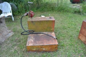 fuel tank with hand pump