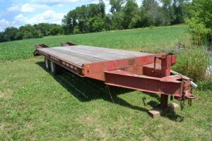 tandem axle flatbed tag trailer