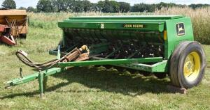 John Deere 450 Grain Drill- S/N N00450X000769- Grass Seeder, Press Wheels, 1 Owner, No Monitor