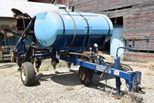 Blu-Jet 8 Row Jet Stream 28% Applicator- S/N 006324, 9 Coulters, 850 Gallon Tank, Spare Parts