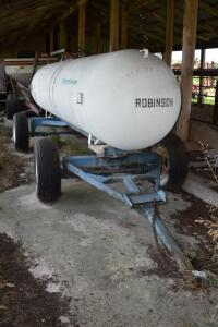 1000 Gallon Anhydrous Ammonia Tank- On Running Gear