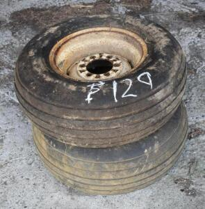 (2) 11L-15 Implement Tires on Rims