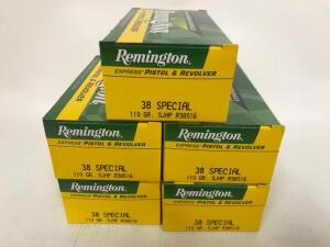(5) Boxes of 38 Special Ammo