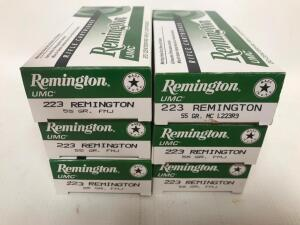 (6) Boxes of 223 Rem Ammo
