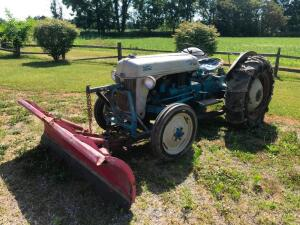 Ford 8N Gas Tractor with Front Blade