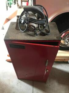 "Snap-On Tool Cabinet with Contents and Craftsman 6 1/2"" Circular Saw"