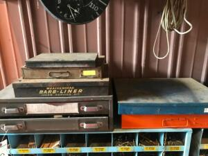 (6) Small Parts Bins with Contents