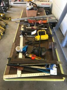 Assorted Shop Tools on Table