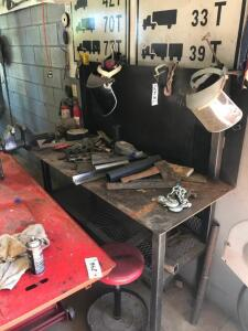 Steel Work Bench with contents