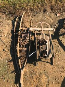 Snow Shoes, Antique Ice Skates, Vintage Sled