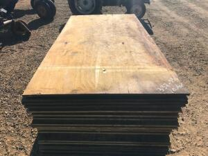 "(10) Sheets of 3/4"" Treated Plywood - used"