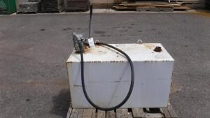 100 GALLON FUEL TANK WITH HAND PUMP