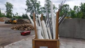 LARGE LOT OF PIPE, COPPER, PVC, ELECTRICAL AND GAS PIPING