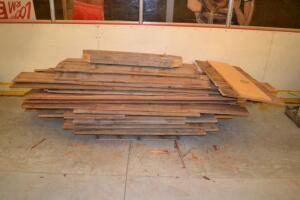 pallet of barn wood
