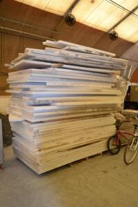 Pile of 2 inch insulation boards/sections