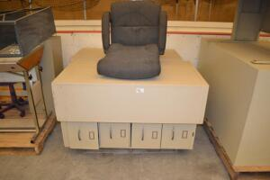 file cabinets and office chair